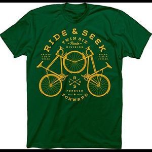 American Apparel Green Cycling Bicycle T-Shirt